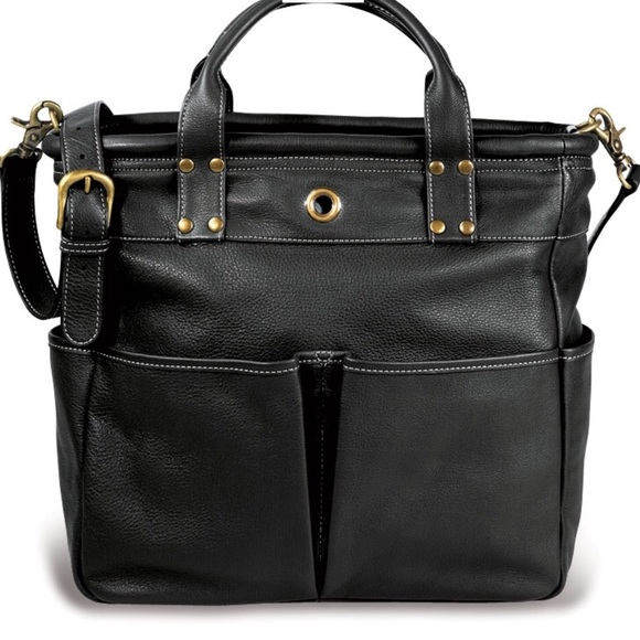 Levenger Handbags - Levenger St. Tropez Leather Tote Bag